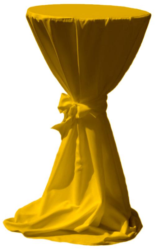 stehtischhussen hussen f r stehtische gelb 80cm ebay. Black Bedroom Furniture Sets. Home Design Ideas